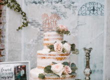 Cake Under String Lights